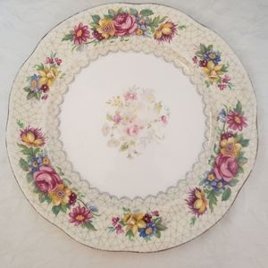 4/$30 1930/40s Royal Standard Brussels Lace Plate
